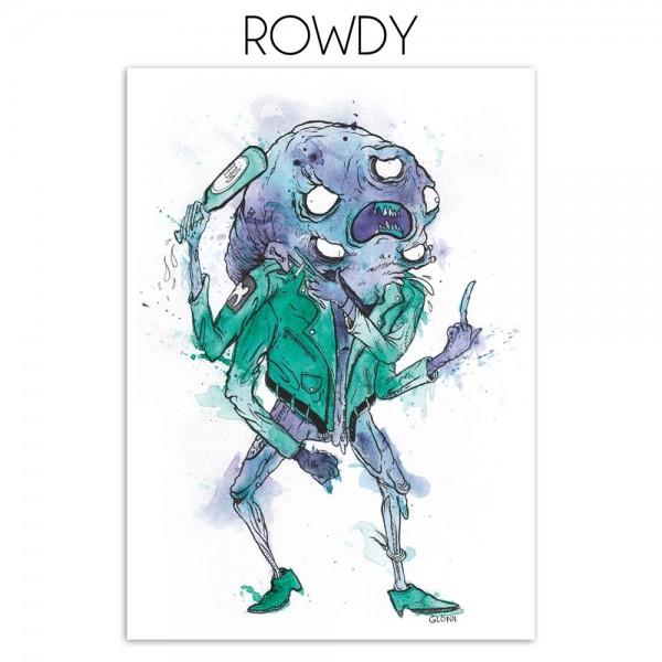 "Glönn: ""Rowdy"" - digital print on paper - salzigberlin"