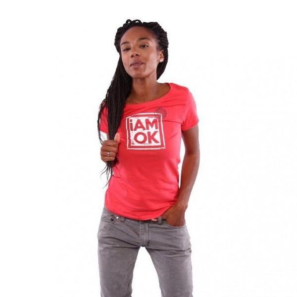 iAMOK: Poststempel - Hibiskus  - ein lässiges Woman T-Shirt