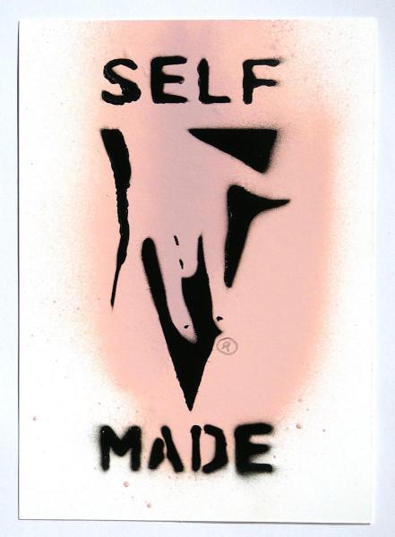 "Ostap: ""Selfmade - Pink"" - Handmade Stencil - SALZIGBerlin"