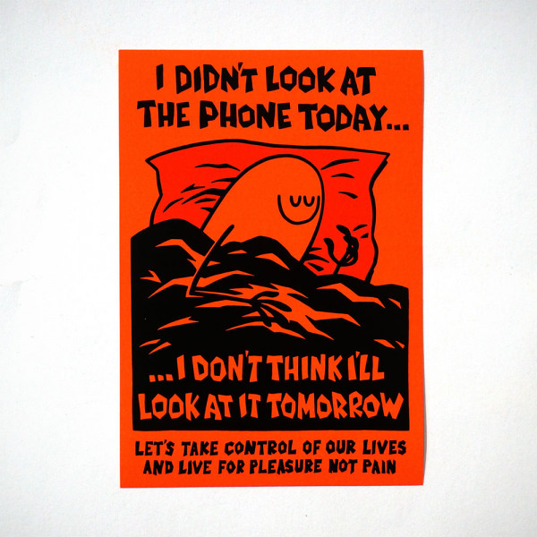 """Dave the Chimp: """"Look at the Phone"""" - Sticker - salzigberlin"""