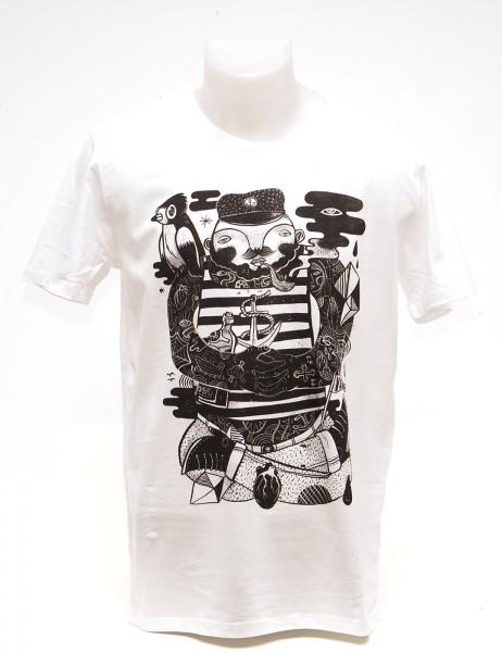Yackfou: Käptn Konni T-Shirt auf Weiß - SALZIG Berlin