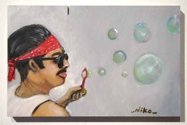 "Niko Streetart: ""Seifenblasen"" - salzig berlin galerie"