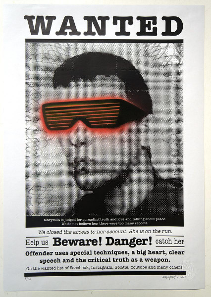 Marycula: Wanted - III- signed and stamped - SALZIG Berlin