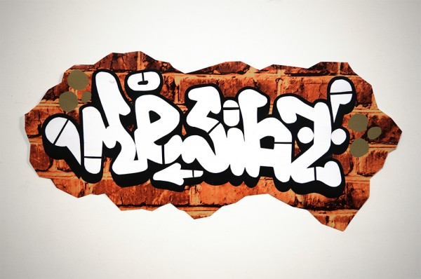 "Mesy: ""Brick""  Sticker Handcut"