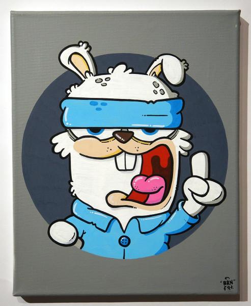 """Brainfart: """"Genau"""" - mixed media on canvas - SALZIGBerlin"""