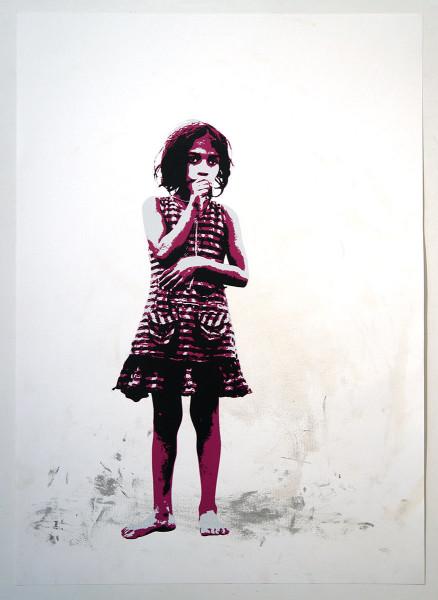 """Tona: """"Thumbs (Pink)"""" - salzig streetart"""