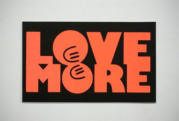 "Dave the Chimp: ""Love More - Red"" - Sticker"