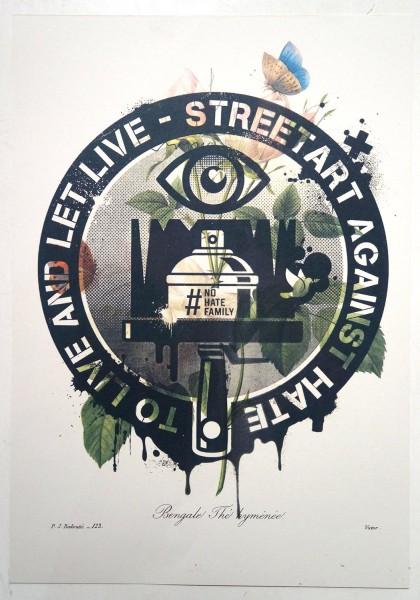 """Planet Selfie: """"Streetart Against Hate"""" at SALZIG Berlin"""