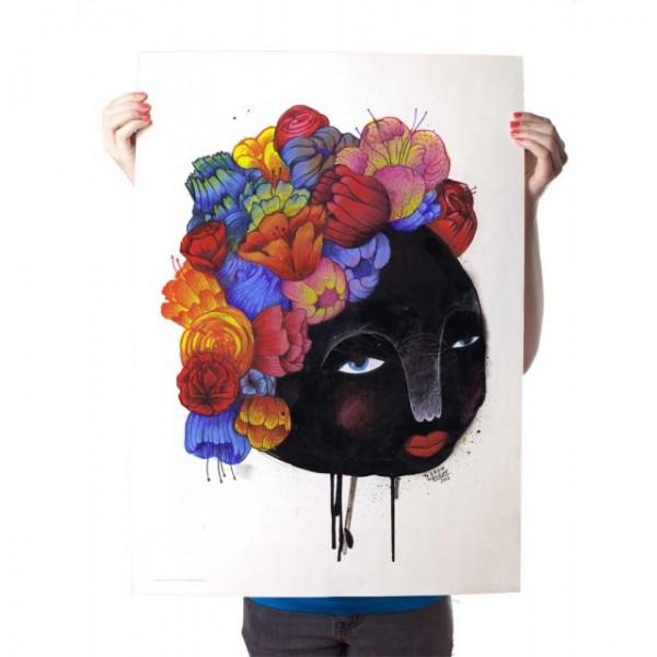 "Yack Fou: ""Blumenhaar"" - Poster A2"
