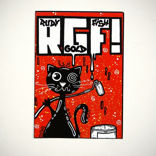"Rudy Goldfish: ""RGF Cat"" - Sticker"