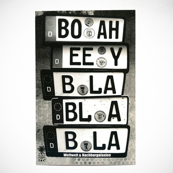 "MaraCooya: ""Boah Eey Bla Bla Bla"" - Sticker at SALZIG Berlin"
