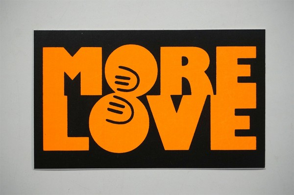 "Dave the Chimp: ""More Love - Orange"""