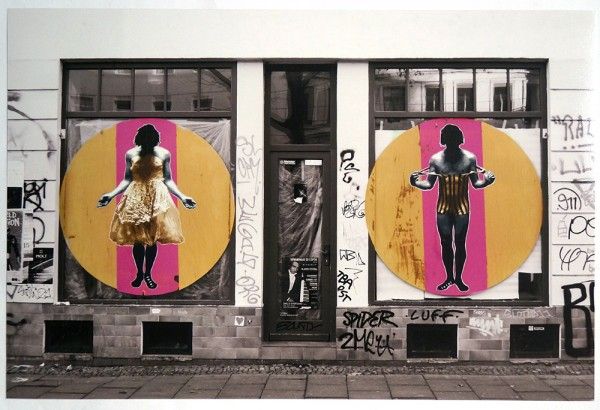 "Fatal: ""Gender in Leipzig""  - glossy photo paper - stamp imprint - Paste up in the streets of Leipzig"