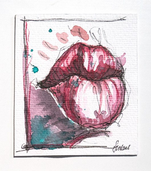 "Susanne Wilke: ""Kiss the world, it needs it!"" - Isa - Aquarell"