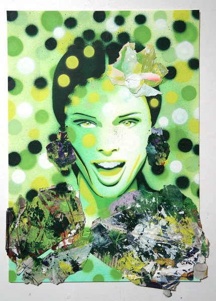 "Mariestyle: ""Screaming Coco"" - spraypaint stencil on paper - SALZIGBerlin"