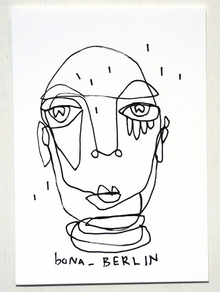 Bona Berlin: Head II - Original Postcard