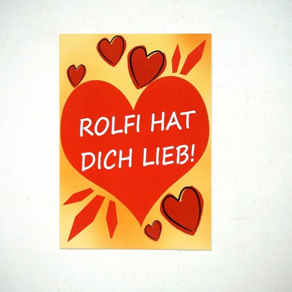 "ROLF LE ROLFE: ""Rolfi hat dich lieb!"" - Sticker"