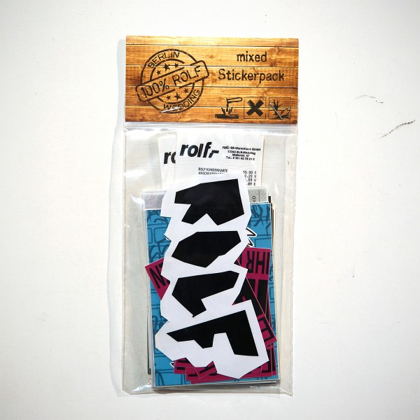 "ROLF LE ROLFE: ""100% Rolf - Berlin Wedding"" mixed Stickerpack"
