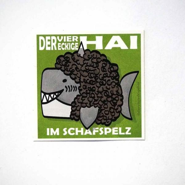 Der viereckige Hai im Schafspelz - Sticker