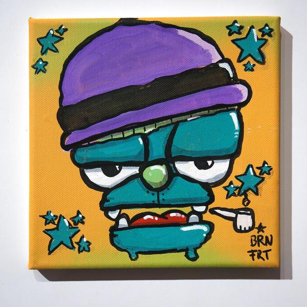 "Brainfart: ""Smoker Turquoise"" - mixed media on canvas - SALZIGBerlin"