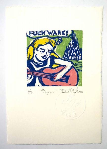 "Prizmu: ""Play On""  - Holzdruck auf Papier - SALZIG Berlin Galerie"