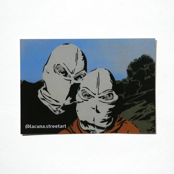 """Lacuna: """"Duo"""" - Sticker at SALZIG Berlin"""