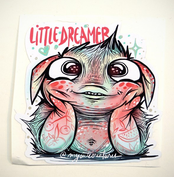 "My Cute Creatures: ""Little Dreamer"" - Sticker"