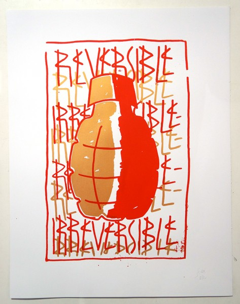 "SP 38: ""Irreversible - Bronze"" - 2 Colour Screen Print on Paper - Limited to 20 Pieces"
