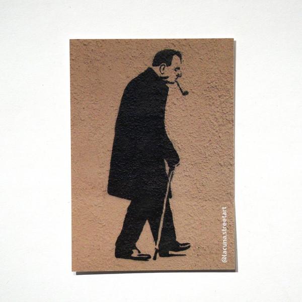 """Lacuna: """"Walter Wegner"""" - Sticker at SALZIG Berlin"""