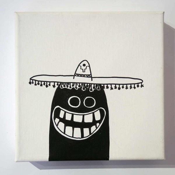 "Rabea Senftenberg: ""Diego""  - Marker and fun on canvas, made in Berlin"