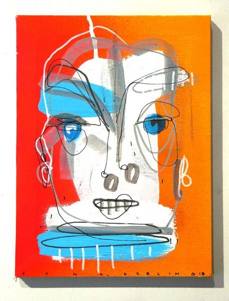 Bona Berlin: Face - White - mixed media on canvas - salzig berlin