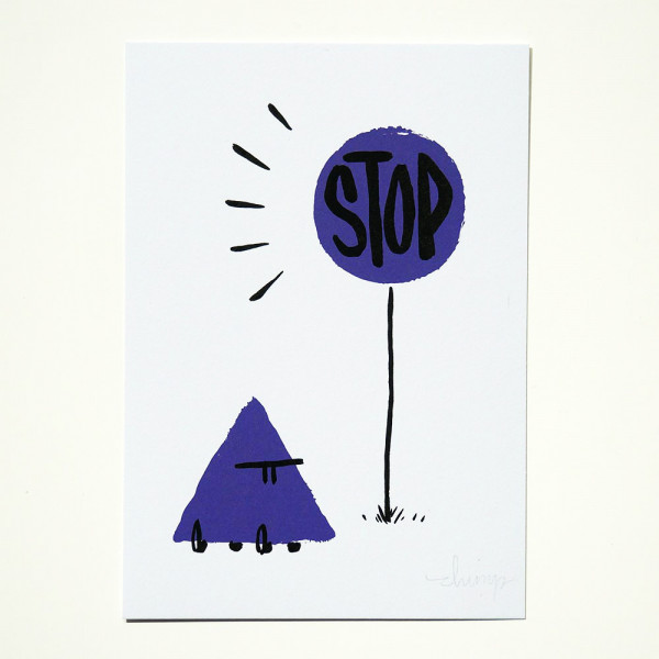 """Dave the Chimp: """"Stop"""" Postcards from Life"""