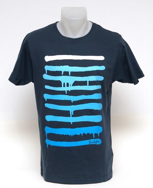 Yackfou - Dripline T-Shirt auf Blau - SALZIG Berlin
