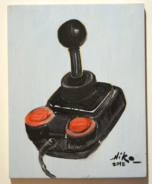 """Niko Streetart: """"Joystick"""" - salzig berlin - Ölbild"""