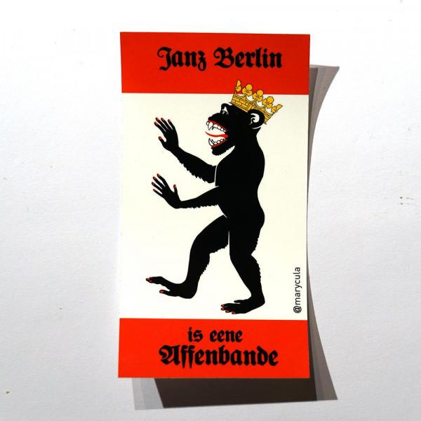 "Marycula: ""Janz Berlin is eene Affenbande"" - Sticker - @salzig.berlin"