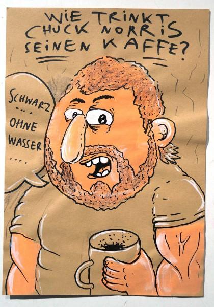 "Keule aka John Reaktor: ""Schwarz ohne Wasser"" - mixed media on paper - salzig"