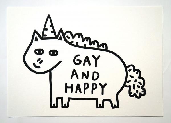 """Roydraws: """"Gay And Happy"""" - Print - salzigberlin"""