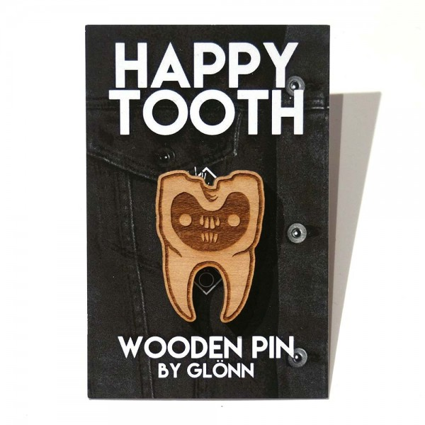 "Glönn: ""Happy Tooth"" - Wooden Pin - SALZIGBerlin"