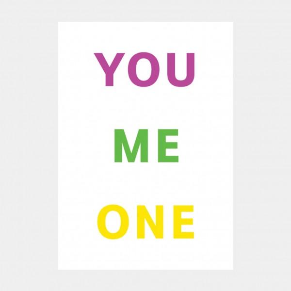 """Oliver O. Rednitz: """"You Me One""""  - DINA2, 42 x 59,4 cm"""