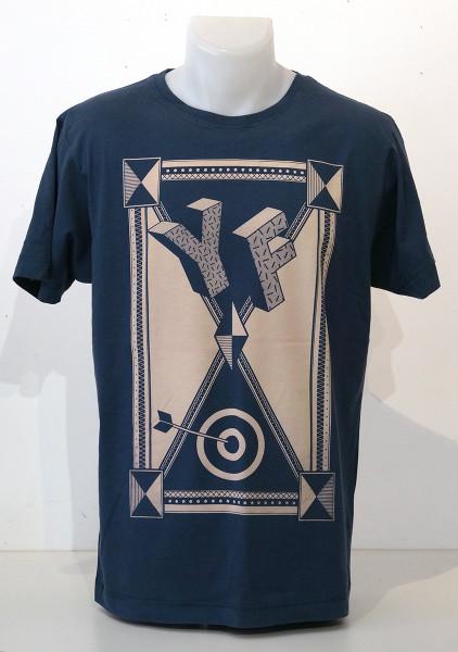 Yackfou - Dartari T-Shirt auf Blau - Mehr gibt es in Friedrichshain - SALZIG