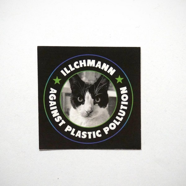 Illchmann Sticker: Against Plastic Pollution - Aufkleber aus Berlin - Streetart Galerie SALZIG