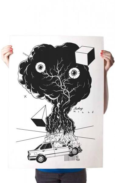 "Yack Fou: ""Smoking kills"" - Poster A2"