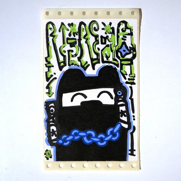 """Angry Koala: """"Gangster"""" - Handmade Sticker"""