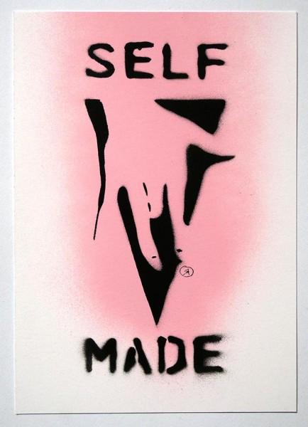 "Ostap: ""Selfmade - Pink""  - Handmade Stencil  - SALZIG Berlin"