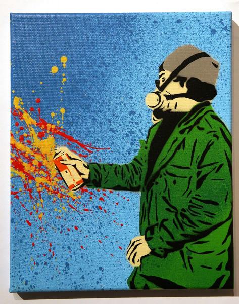 """Lacuna: """"Der Sprüher"""" - streetart - SALZIG"""