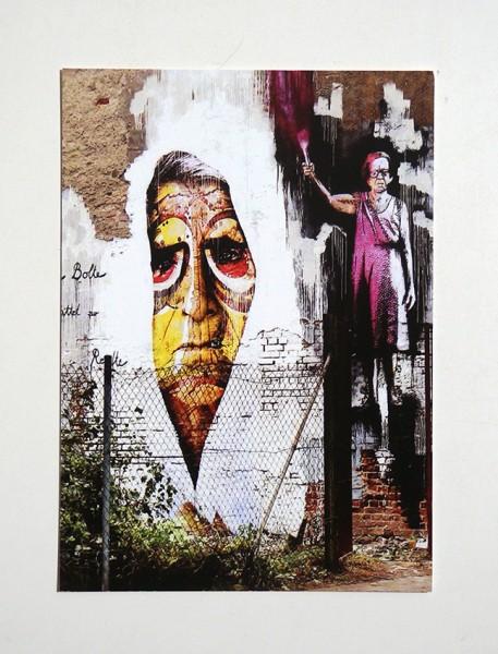 Flocke: Conta Man - Wall - Postkarte A6