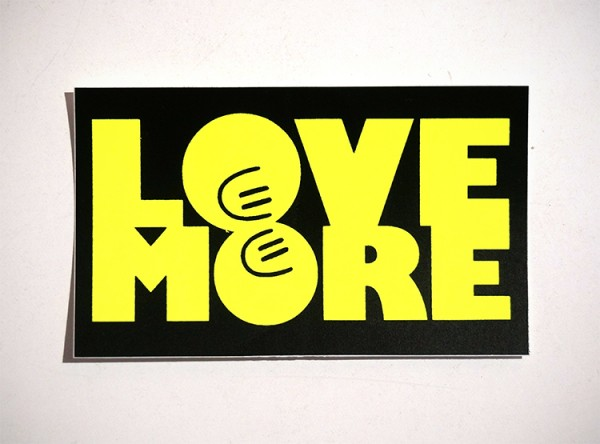 "Dave the Chimp: ""Love More"" - Sticker"