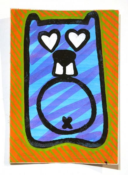 "Angry Koala: ""Blue Koala"" - Handmade Sticker"