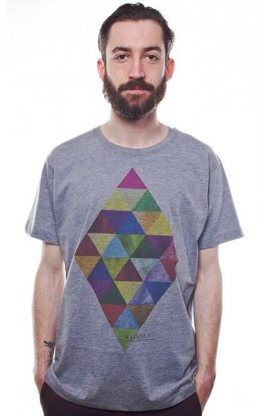 Yackfou - Dreikantvier T-Shirt in Grau