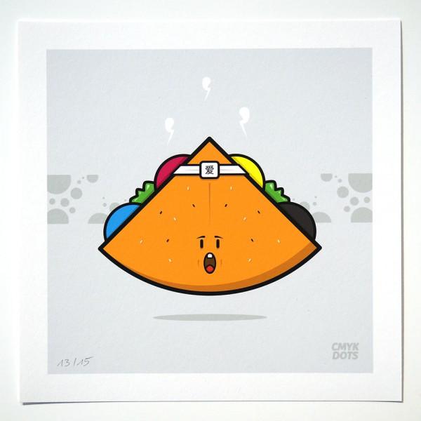 CMYK Dots: Funky Falafel (limitierte Edition) - Streetart at SALZIG